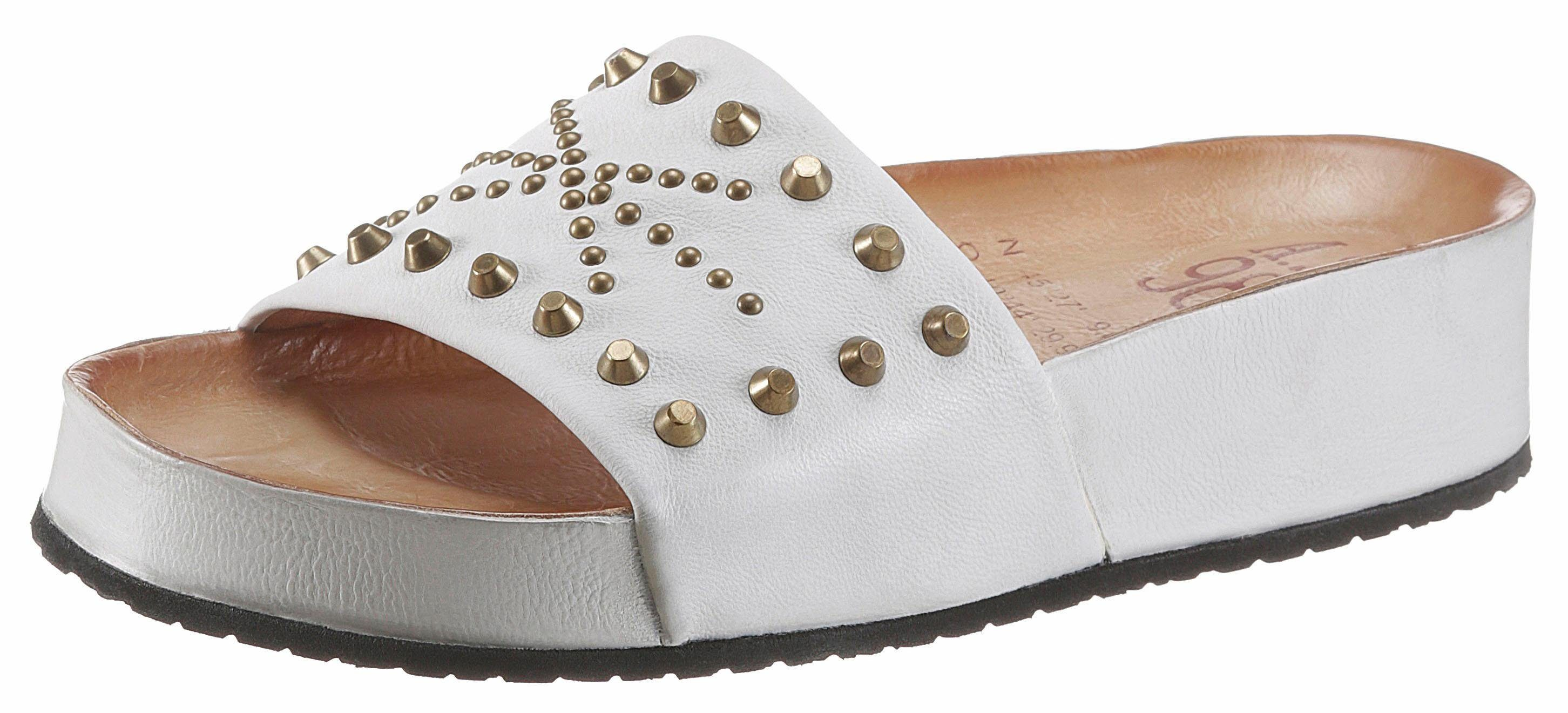 AS98 Pantolette, mit angesagter Plateausohle  offwhite