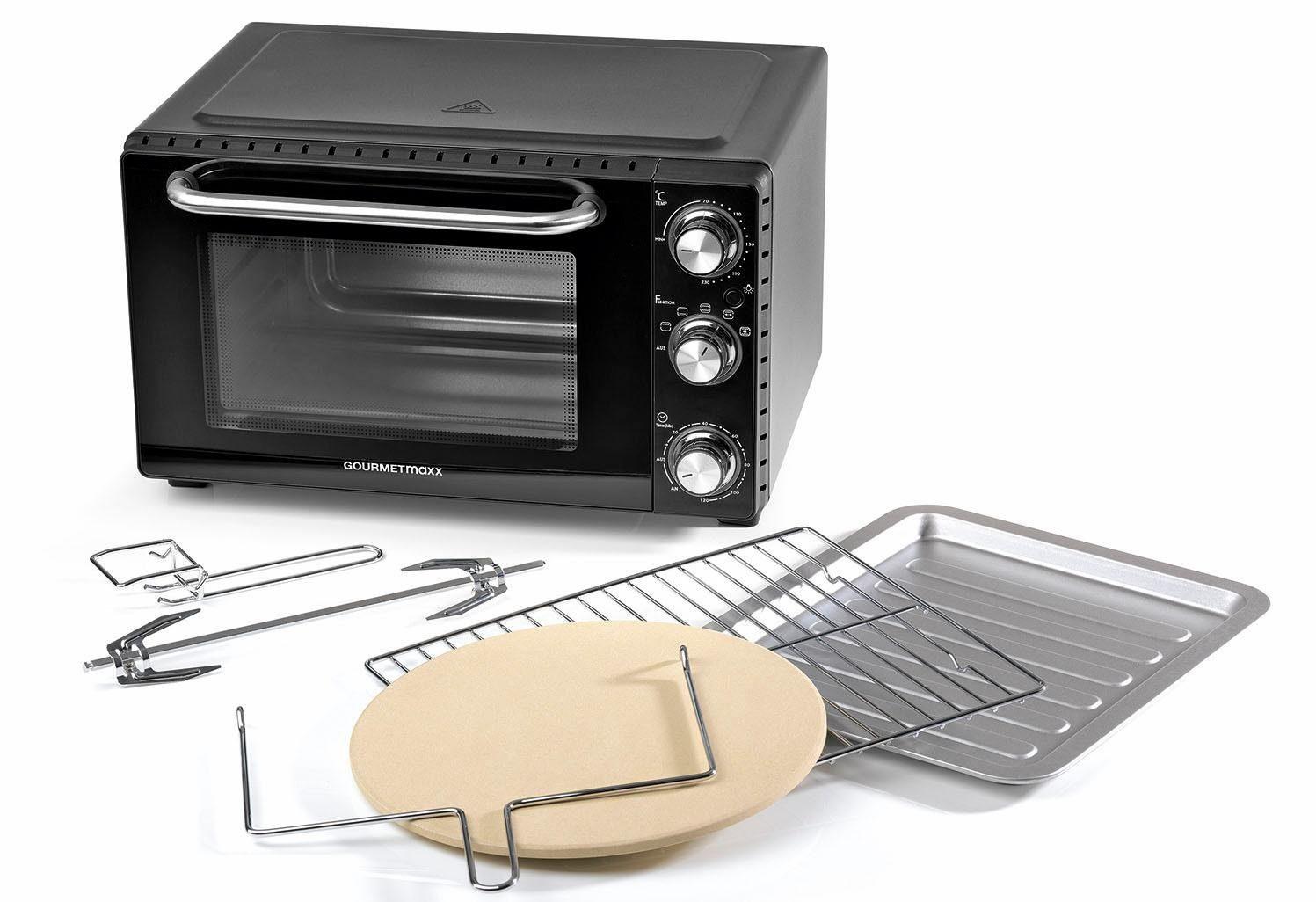 GOURMETmaxx Minibackofen Infrarot-Ofen, 1500 W, mit Ober- und Unterhitze und Umluft