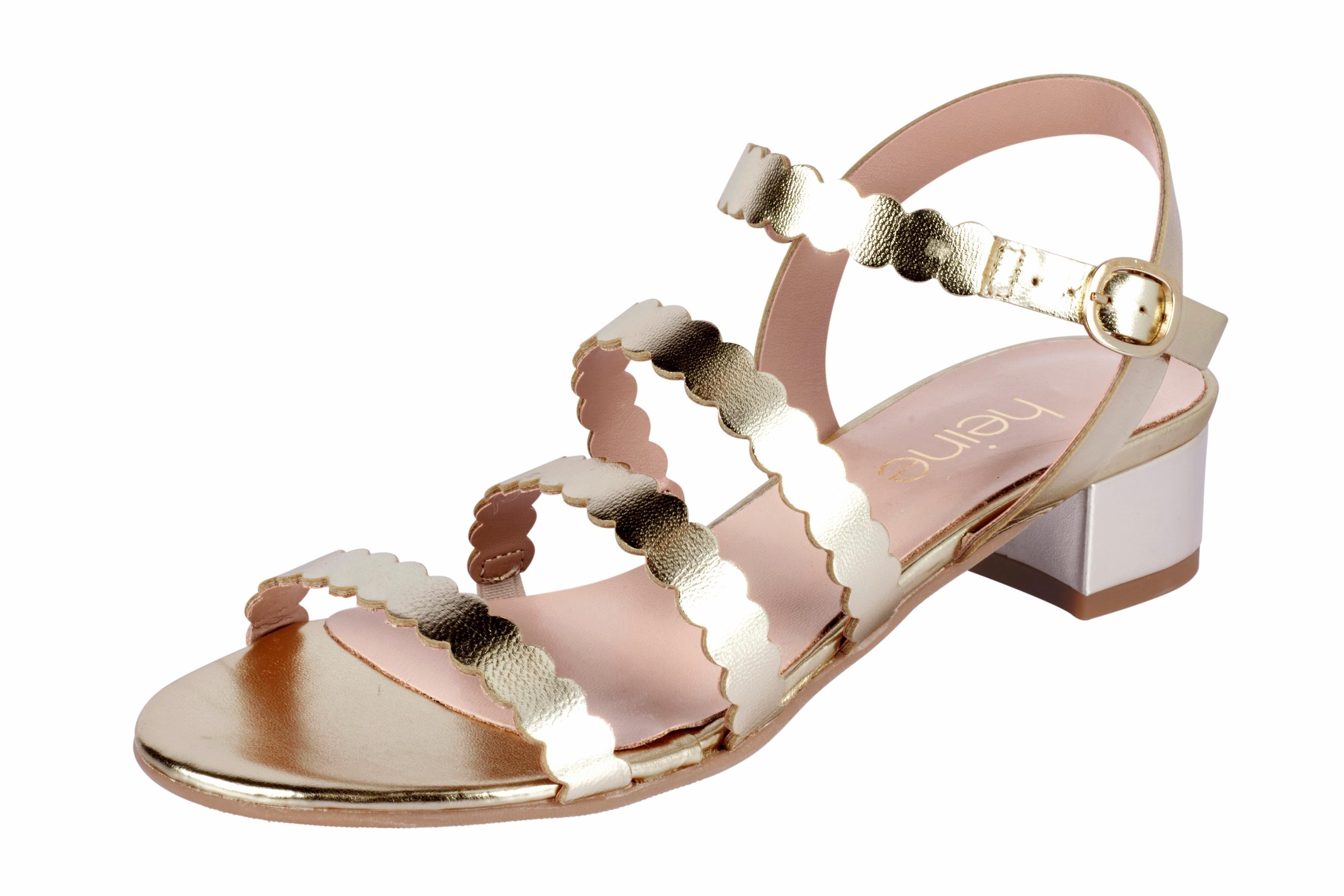 Heine Sandalette mit Metallic-Effekt online kaufen  goldfarben