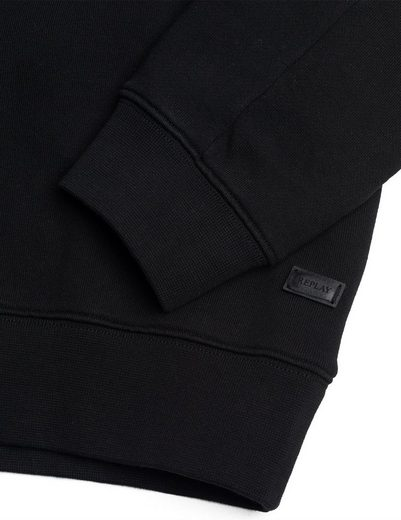 Replay Sweatshirt Good Vibes Brooch With Detachable