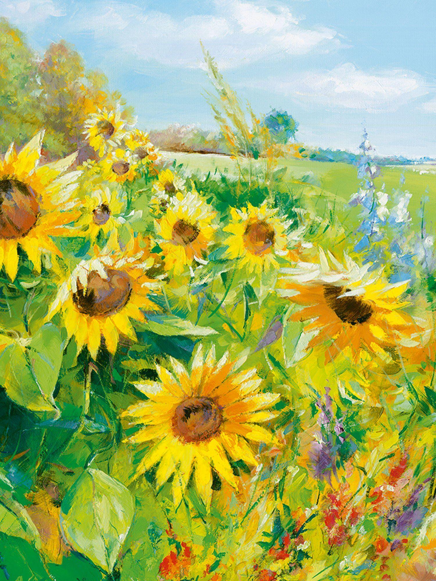 heine home Leinwandbild Sonnenblume