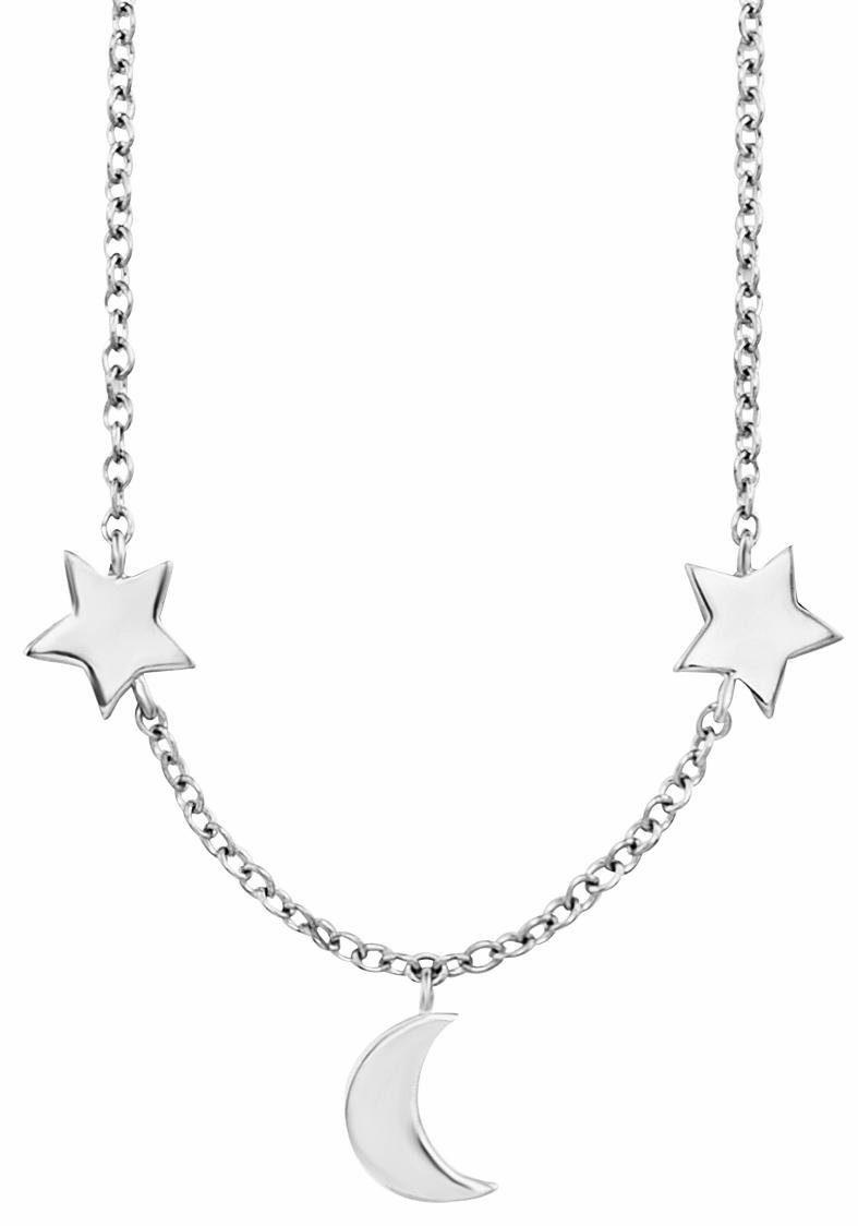 CAÏ Kette mit Anhänger »Halbmond, Sterne, moon & stars, C7361N/90/00/44«