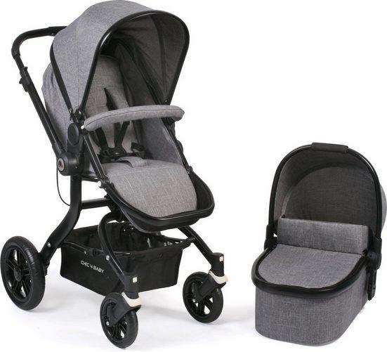 CHIC4BABY Kombi-Kinderwagen »Tano, grau«