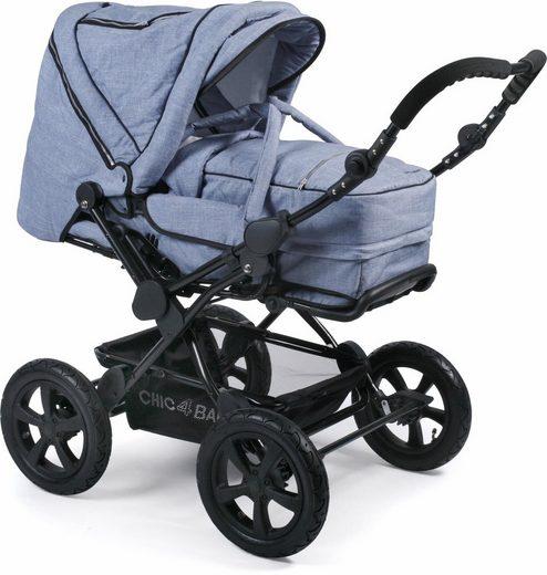 CHIC4BABY Kombi-Kinderwagen »Viva, hellblau«, mit Lufträdern