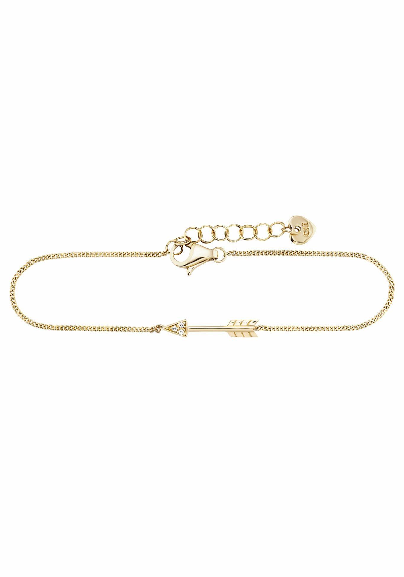 CAÏ Armband »Pfeil, wild thing, C7370B/90/03/19« mit Zirkonia