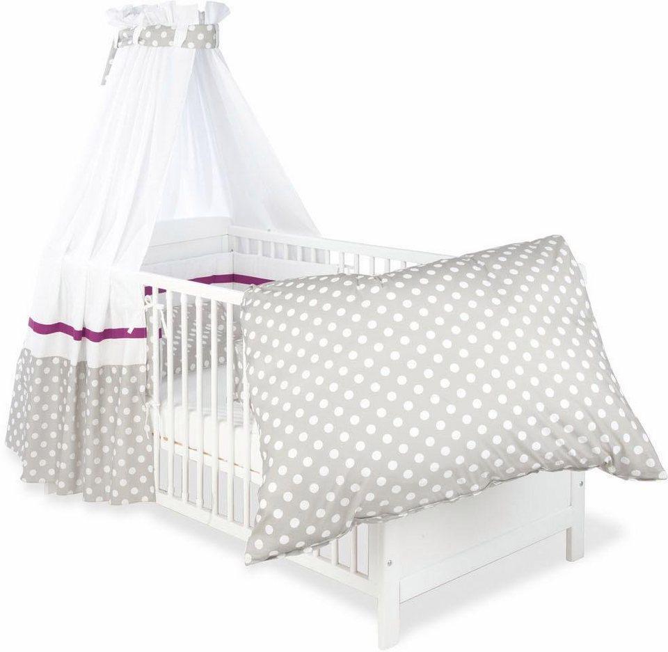 pinolino set bettw sche betthimmel nestchen punkte. Black Bedroom Furniture Sets. Home Design Ideas