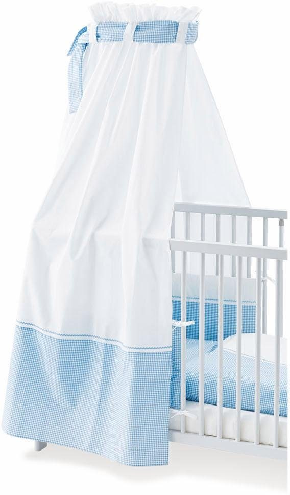 Pinolino Himmel für Kinderbetten, »Vichy-Karo, blau«