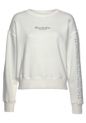 Herrlicher Sweatshirt »CARRIE« mit Logo-Herrlicher-Druck