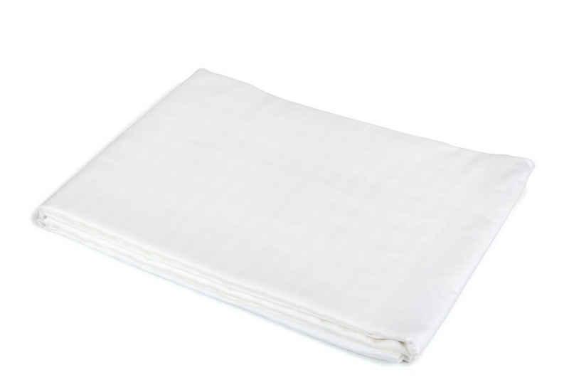 Bettlaken »glatt weiß in verschiedenen Größen 100% Baumwolle ohne Gummizug«, TextilDepot24