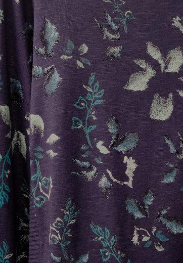 CECIL Shirt im Brokat Blüten Look