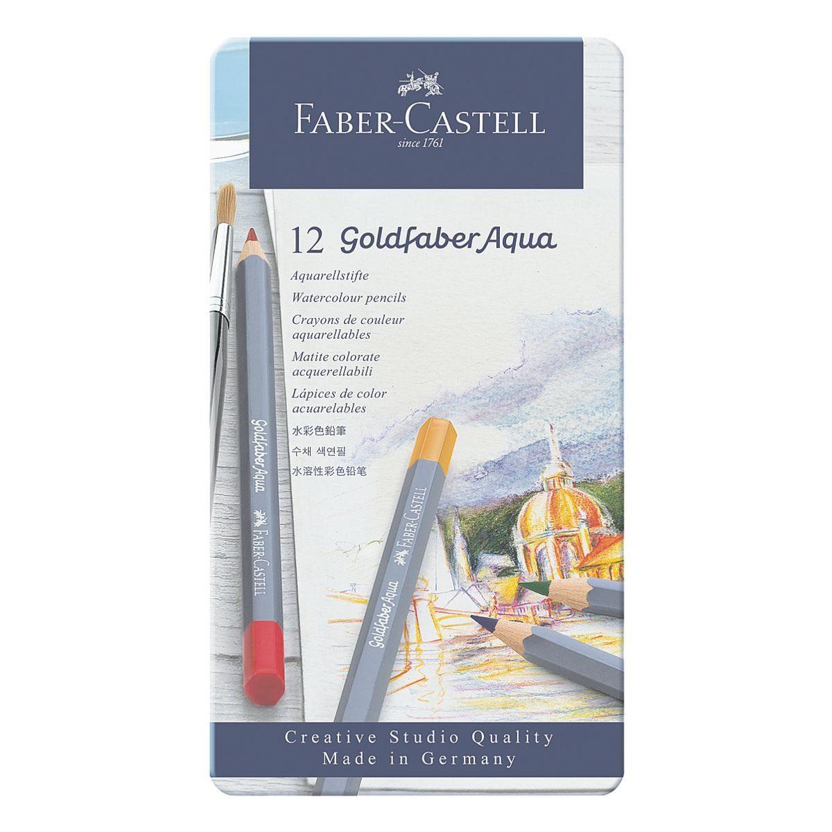 Faber-Castell 12er-Pack Aquarellstifte »Goldfaber Aqua«