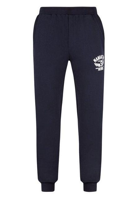 AHORN SPORTSWEAR Sweatpants mit Markenstickerei | Bekleidung > Hosen > Sweathosen | Blau | Baumwolle - Polyester | AHORN SPORTSWEAR