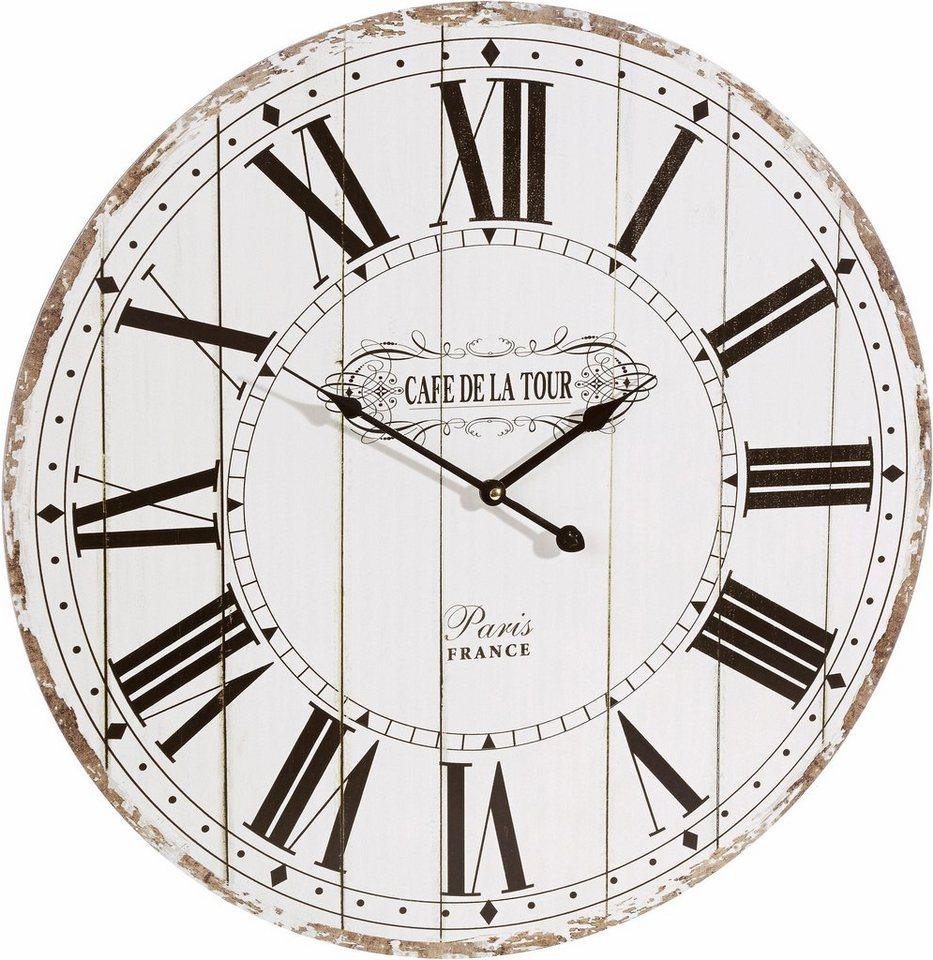 Home affaire Wanduhr im Vintage Stil Uhr aus MDF online