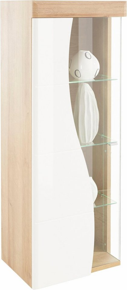 places of style h ngevitrine fontana in hochglanz wei. Black Bedroom Furniture Sets. Home Design Ideas