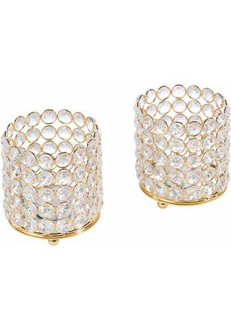 HOME AFFAIRE Žvakidė »Kristall« (Rinkinys 2 vieneta...