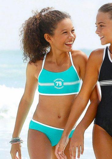 KangaROOS Bustier-Bikini »Sporty« mit sportlichem Frontdruck