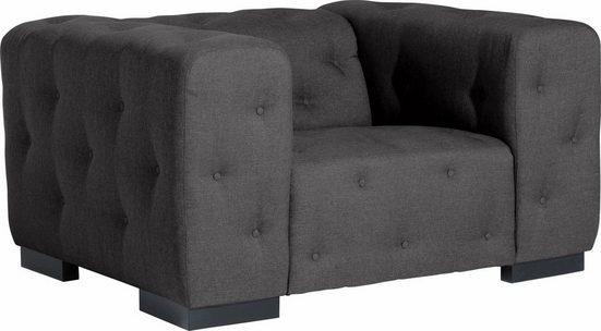 Max Winzer® Sessel »York«  mit Knopfheftung  Breite 130 cm