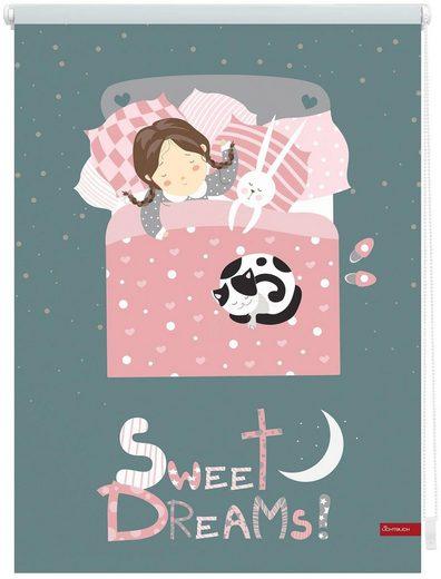 Seitenzugrollo »Klemmfix Digital Sweet Dreams«, LICHTBLICK, verdunkelnd, ohne Bohren, freihängend, bedruckt