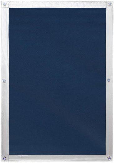 Dachfensterrollo »Haftfix Hitzeschutz Abdunkelung«, LICHTBLICK ORIGINAL, verdunkelnd, ohne Bohren, verspannt, mit Thermobeschichtung, mit Saugnapf