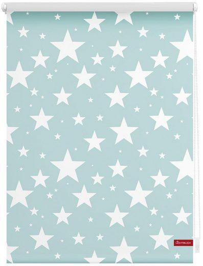 Seitenzugrollo »Klemmfix Digital Sterne«, LICHTBLICK, verdunkelnd, ohne Bohren, freihängend, bedruckt