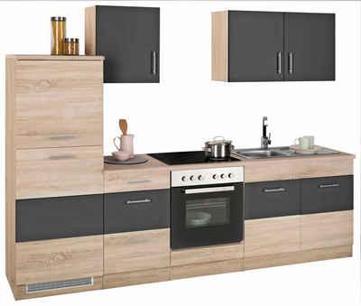 HELD MÖBEL »Perth« Küchenzeile Mit E Geräten, Breite 270 Cm Mit Zweifarbiger
