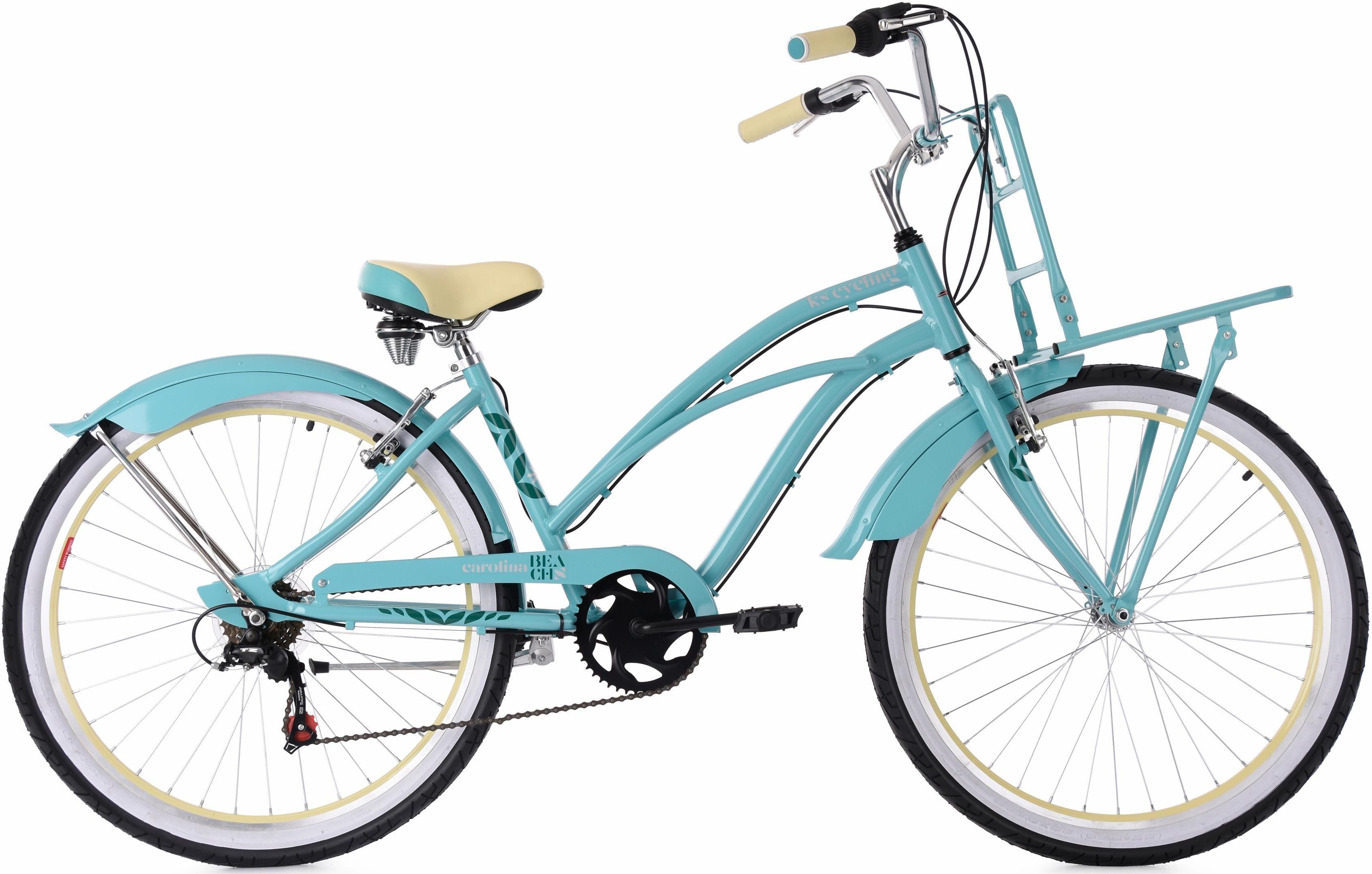 KS Cycling Cruiser »CAROLINA«, 6 Gang Shimano Tourney RD-TZ50 Schaltwerk, Kettenschaltung