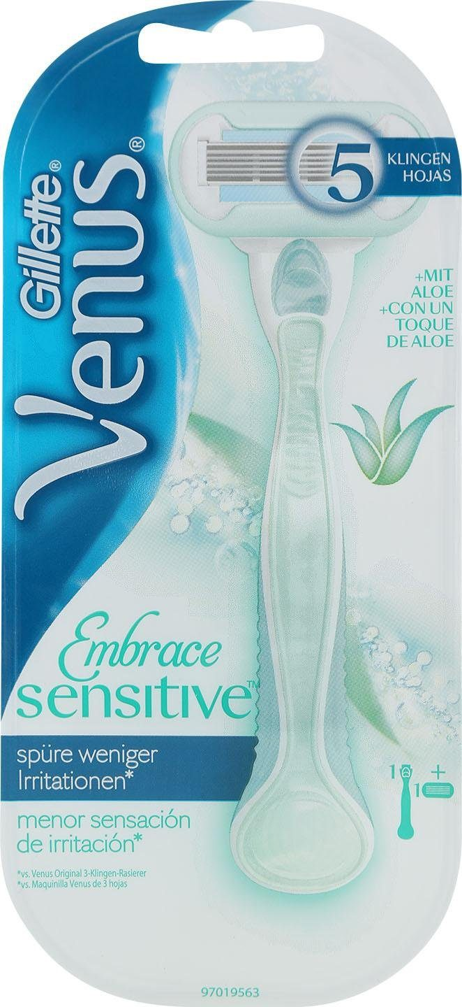 Gillette Venus, »Embrace Sensitive«, Rasierer + 1 Klinge, 2-tlg.