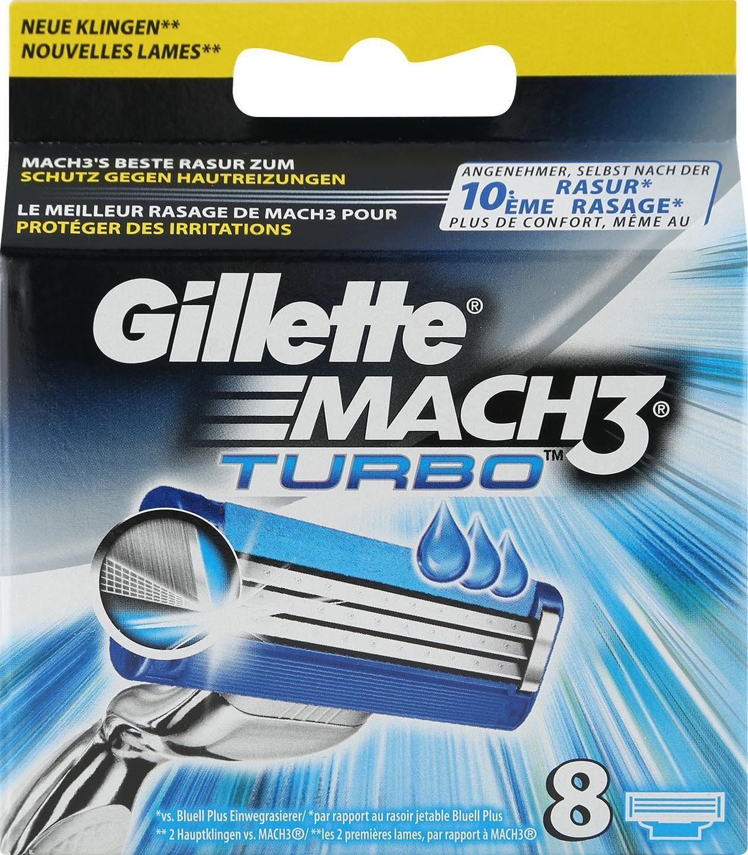Gillette, »Mach3 Turbo«, Rasierklingen, 8-tlg.