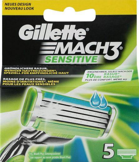 Gillette Rasierklingen »Mach3 Sensitive«, 5-tlg.