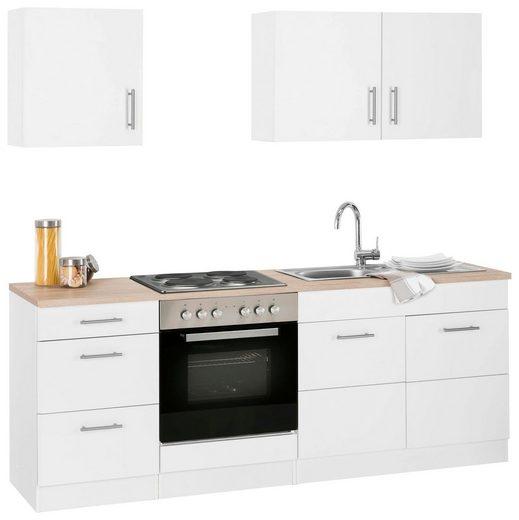 Küchenzeile »Perth«, mit E-Geräten, Breite 210 cm