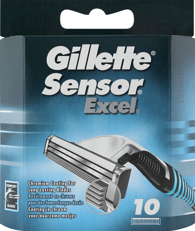 Gillette, »Sensor Excel«, Rasierklingen, 10-tlg.