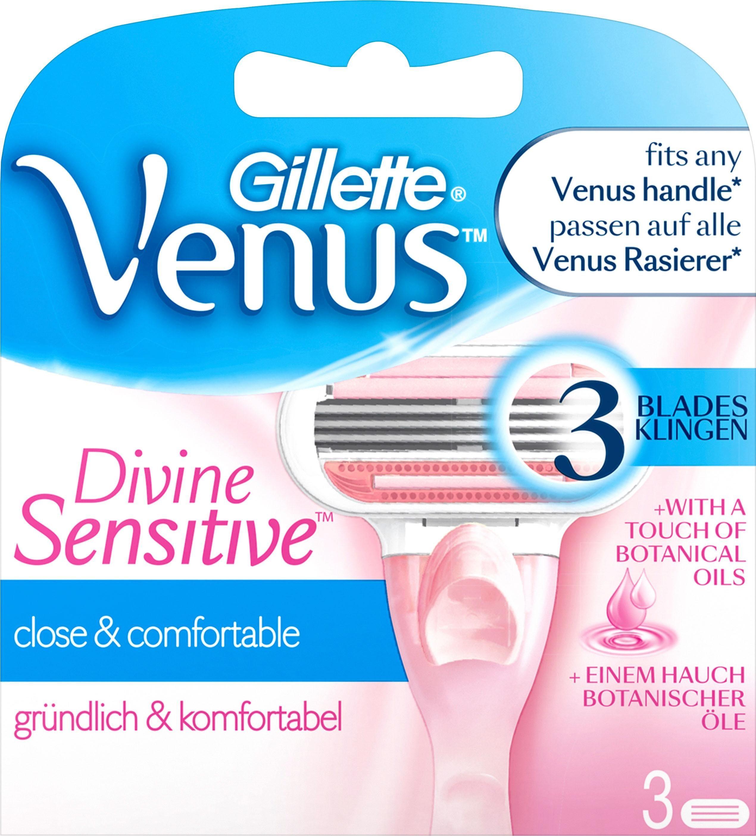 Gillette Venus, »Divine Sensitive«, Rasierklingen, 3-tlg.