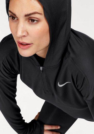 Nike Laufshirt DRY ELEMENTS RUNNING HOODIE, mit Daumenlöchern