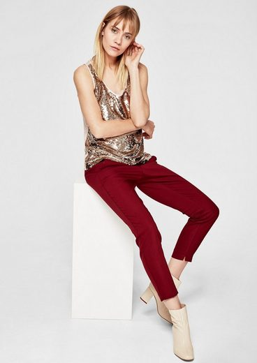 s.Oliver RED LABEL Top mit Pailletten-Front