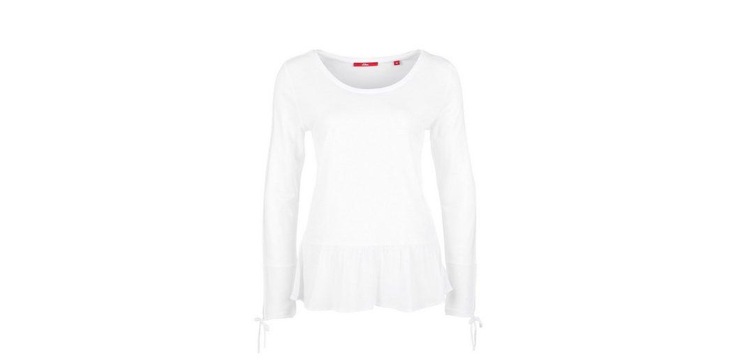 s.Oliver RED LABEL Volant-Shirt mit Blusen-Details Verkauf Extrem zYbbz7MPD