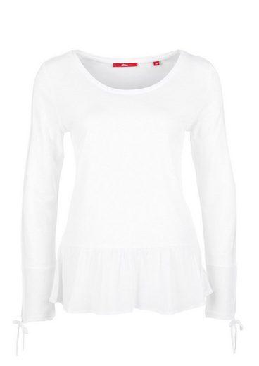 s.Oliver RED LABEL Volant-Shirt mit Blusen-Details