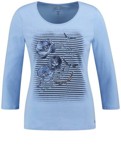 Gerry Weber T-Shirt 3/4 Arm 3/4 Arm Shirt Frontdruck organic and fair