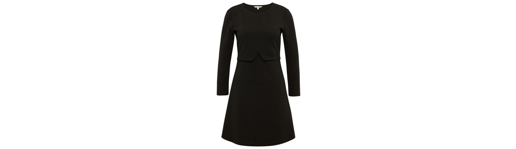 Tom Tailor Denim Jerseykleid Kleid mit Streifen-Struktur Rabatt Klassisch Günstige Verkaufspreise Neue Preiswerte Online Billig Verkauf Blick zTvFQx1fQ