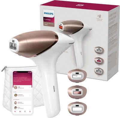 Philips IPL-Haarentferner Lumea Series 9000 BRI955/00, 450.000 Lichtimpulse, Aufsätze: 3 St. (Präzisionsbereiche, Körper, Gesicht), mit SmartSkin Sensor, mit SenseIQ Technologie