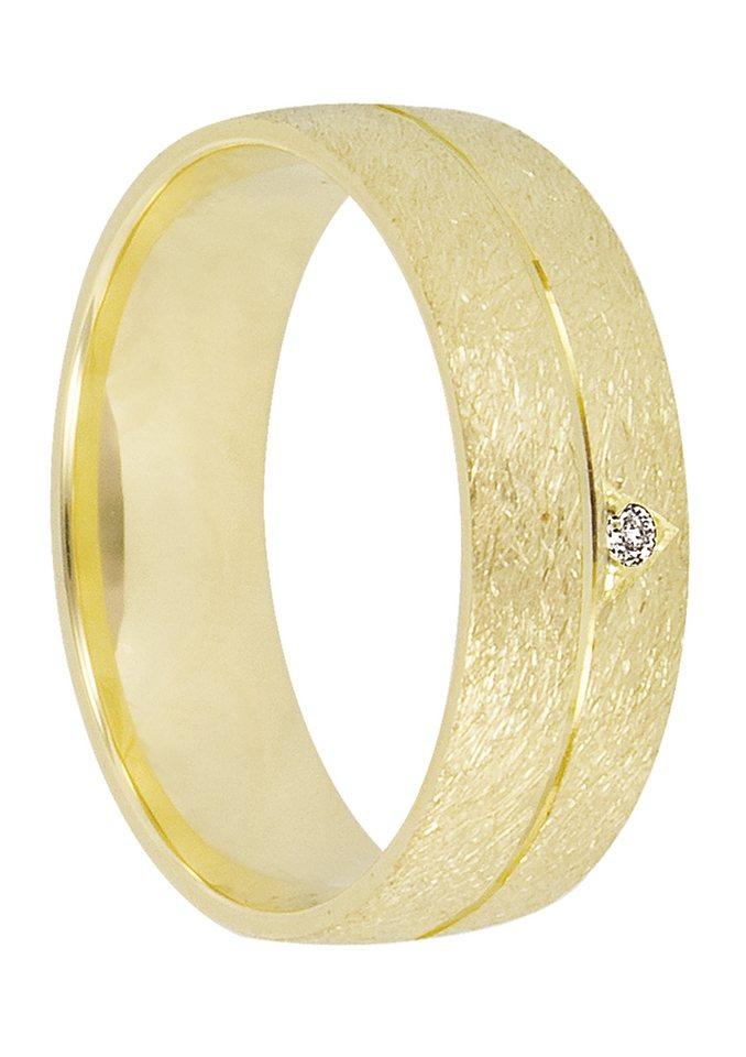 Herren Firetti Trauring mit Gravur Eismatt Diamantschnitt Made in Germany gold | 04007972229459