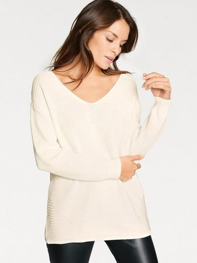 Ashley Brooke By Heine Pullover With Back Cutout