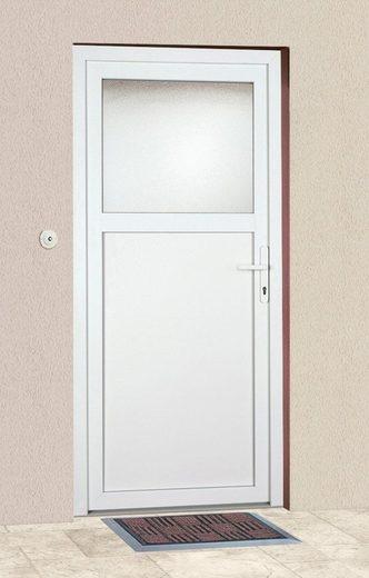 KM MEETH ZAUN GMBH Mehrzweck-Haustür »K601P«, BxH: 88x188 cm, weiß, in 2 Varianten