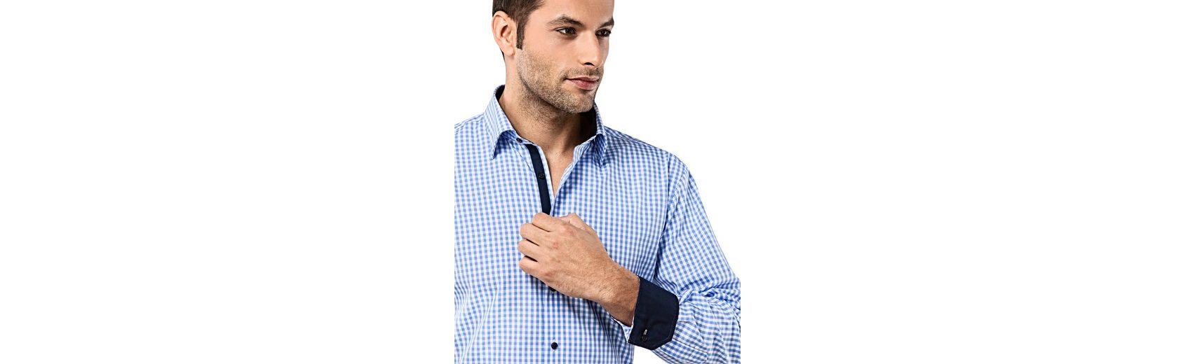 Vincenzo Boretti Hemd mit Kontrasteinlage Online Einkaufen cv3cOXQ