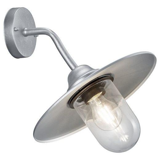 click-licht Deckenleuchte »Wandleuchte Brenta in Zink und Transparent E27«, Aussenlampe, Aussenwandleuchte, Outdoor-Leuchte