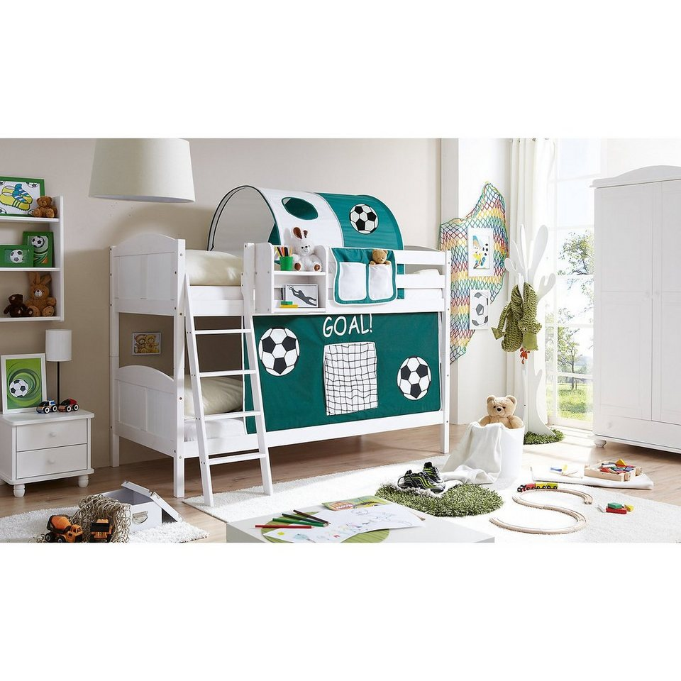 ticaa etagenbett erni country kiefer massiv wei lackiert goal online kaufen otto. Black Bedroom Furniture Sets. Home Design Ideas