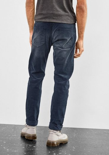 Q/S designed by Liam Straight: Cordhose im Used-Look
