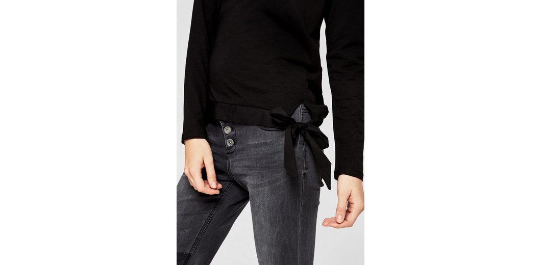 s.Oliver RED LABEL Langarmshirt mit Knoten-Detail Günstig Kaufen Modisch m5nYS8ah
