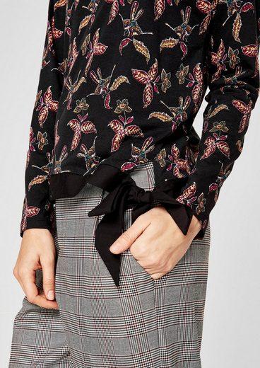 s.Oliver RED LABEL Printshirt mit Knoten-Detail