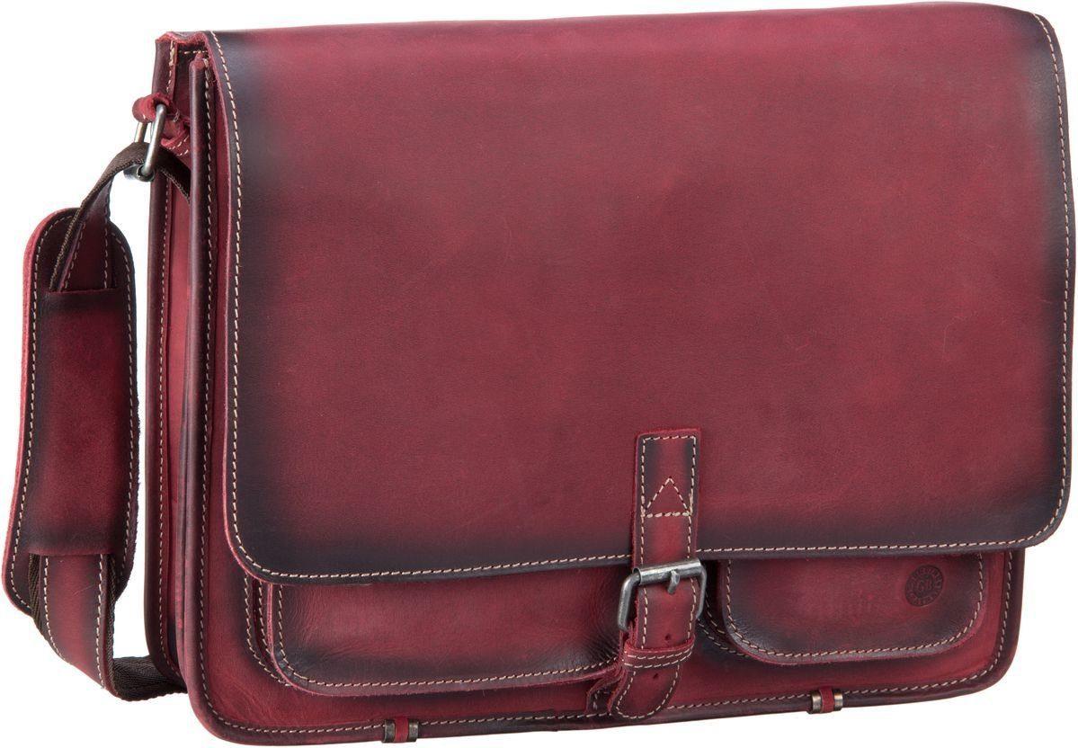 Umhängetasche Buffalo 1003 Posttasche XL Burnish Red Greenburry FffbGctVuw