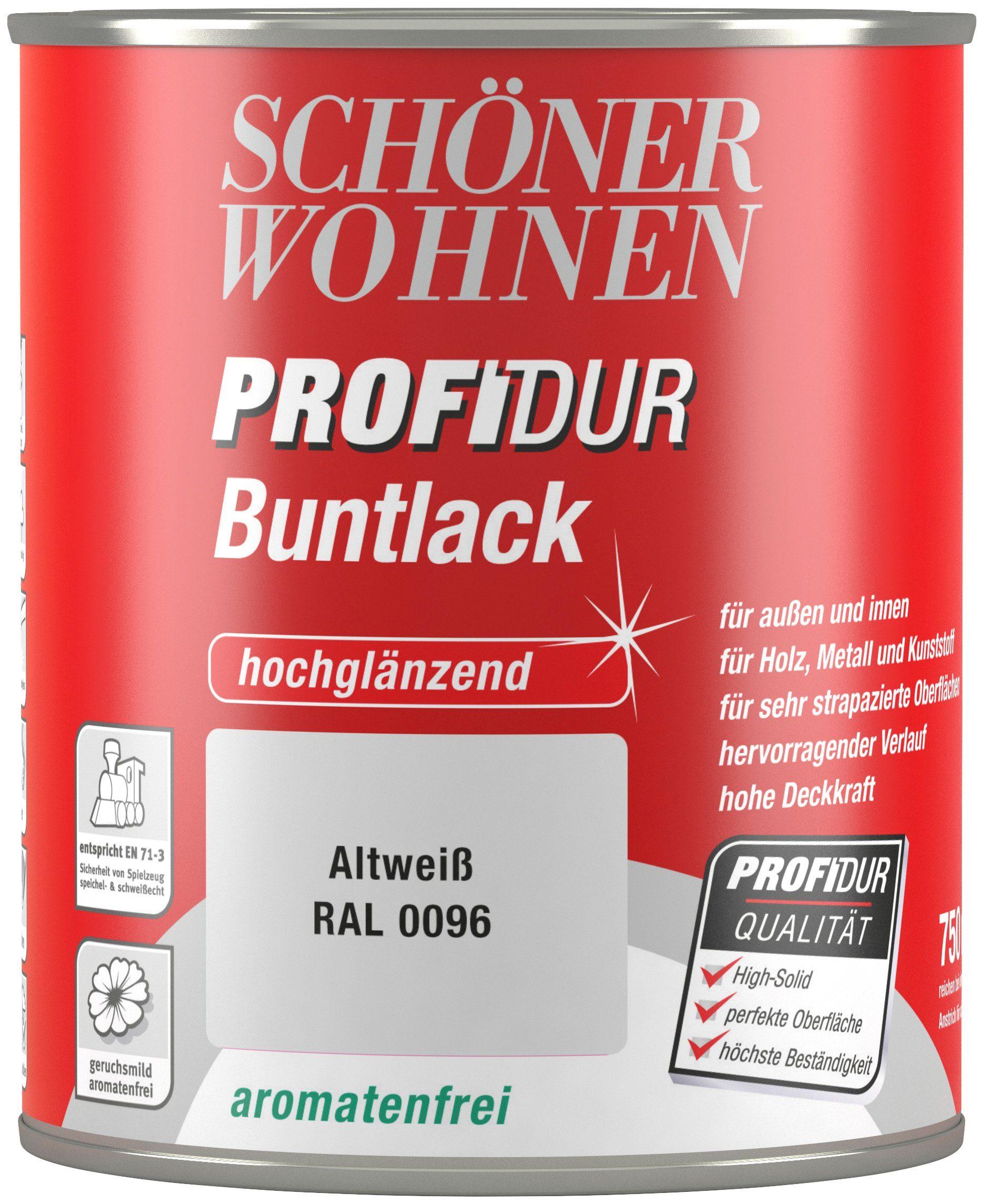 Schöner Wohnen Farbe Buntlack »ProfiDur hochglänzend, 750 ml altweiß«